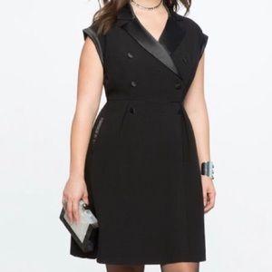 Eloquii Tuxedo/ Blazer dress